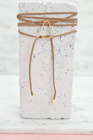 Wrapped Around Detail Choker - Tan - Haute & Rebellious