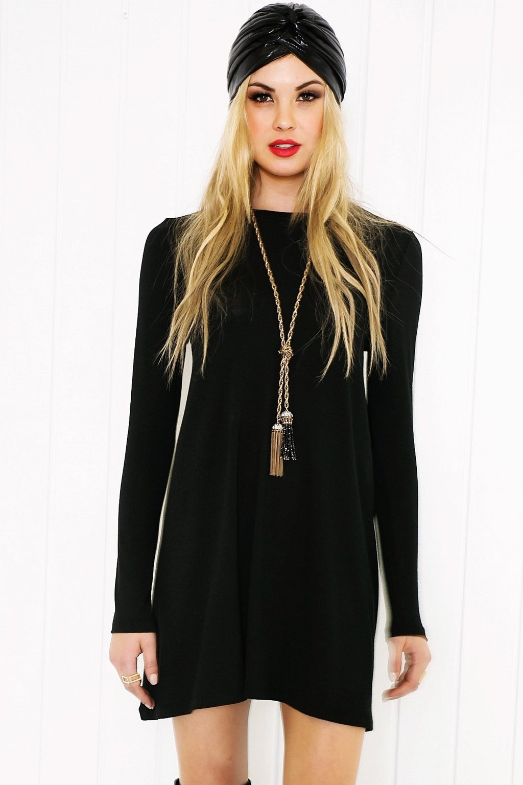 Cadie Long Sleeve Dress - Haute & Rebellious