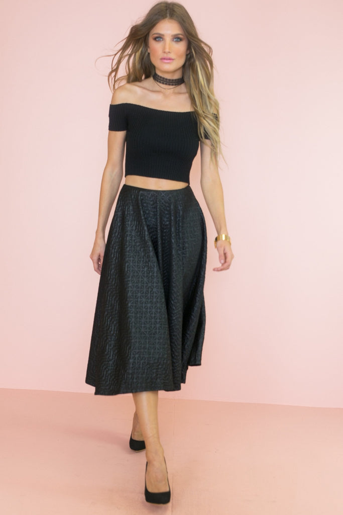 Brecken Slit Maxi Skirt
