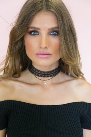 My Way Lace Combo Choker - Haute & Rebellious