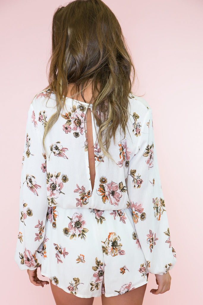 You Give Me Flowers Romper