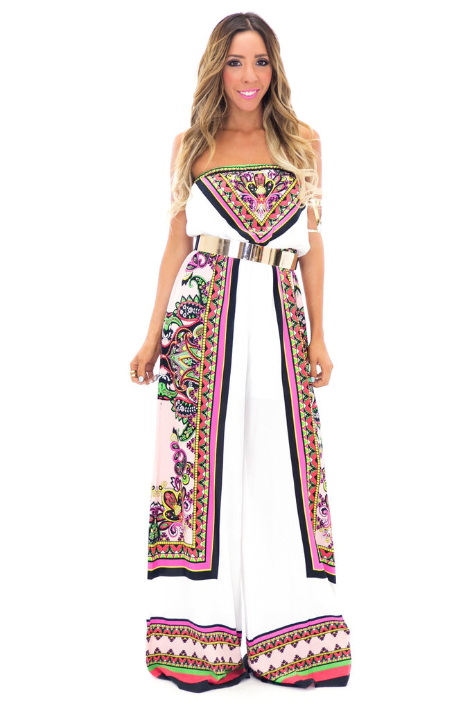AGUAS CALIENTES JUMPSUIT - White