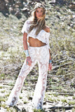 Janla Lace Crop Top - White - Haute & Rebellious