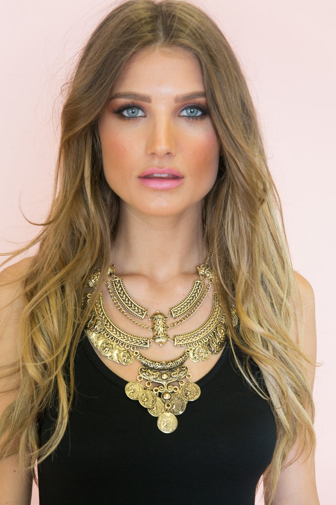 Giana Long Statement Necklace