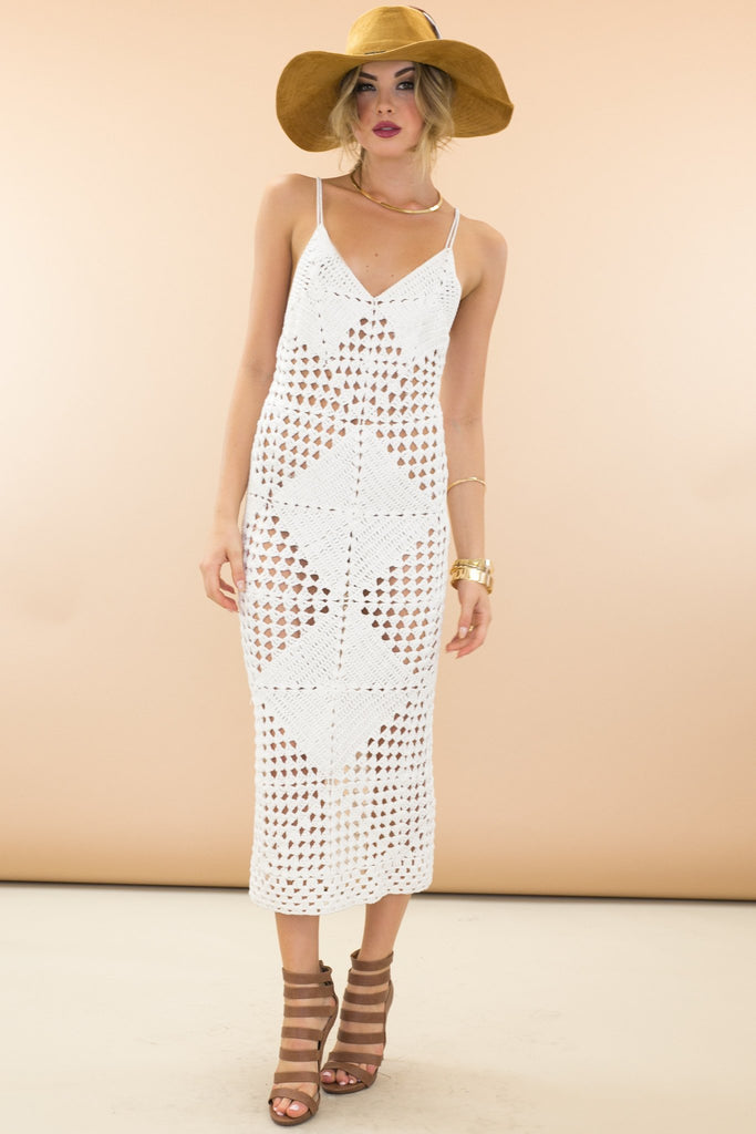 Into The Sun Crochet Maxi Dress