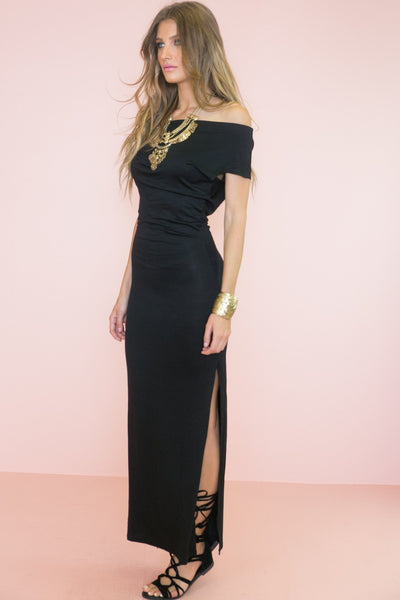 Avery Jersey Off-Shoulder Maxi