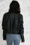 Cool Kids Faux Leather Moto Jacket