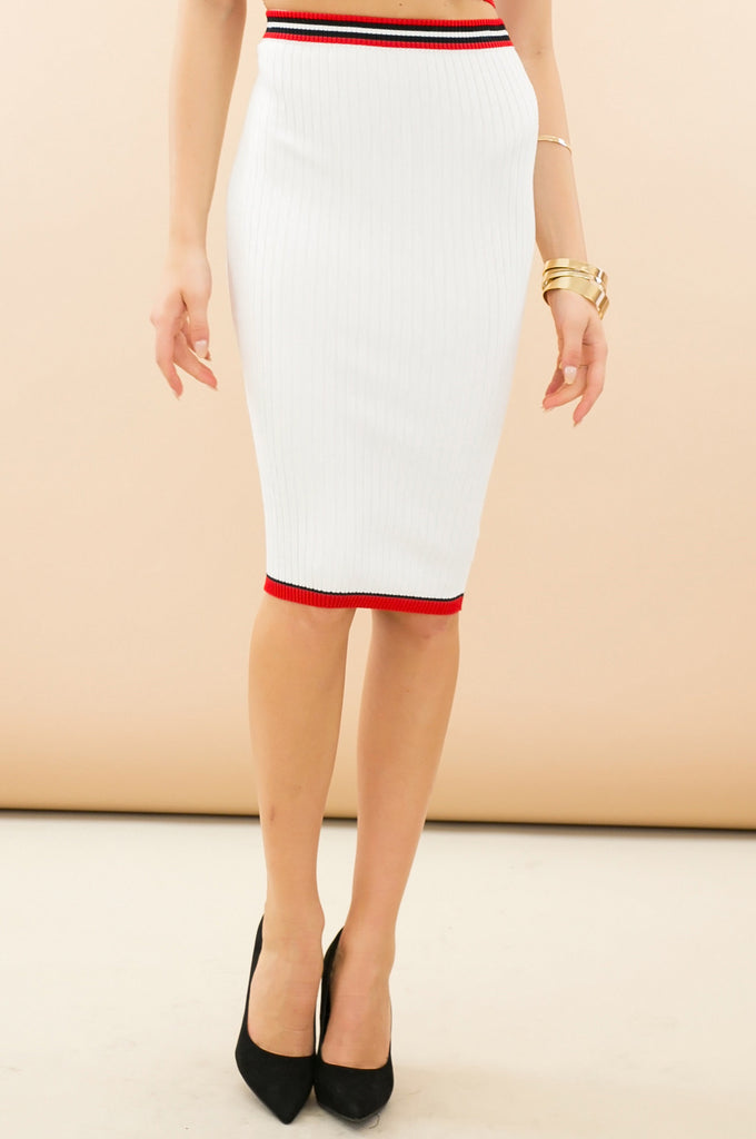 Sharapova Sweater Knit Midi Skirt