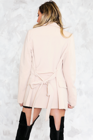 Double-Breasted Short Trench Coat