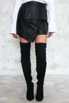 Vincent Ruffle Leather Skirt - Haute & Rebellious