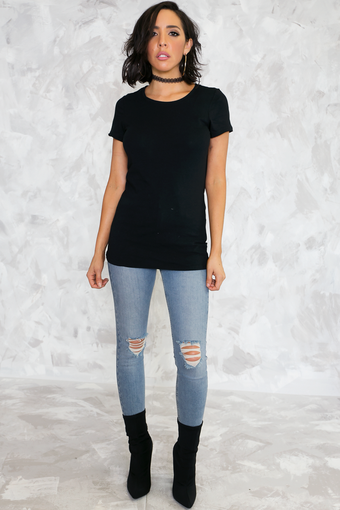 Ain't So Basic Tight Tee - Black