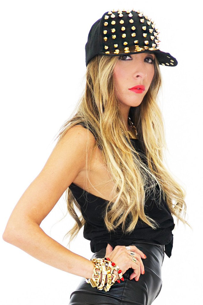 GOLD PLATED SNAPBACK - Black - Haute & Rebellious