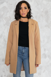 I Found You Short Camel Coat