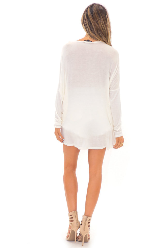 LEA CRISS CROSS LIGHT WEIGHT TOP - Ivory