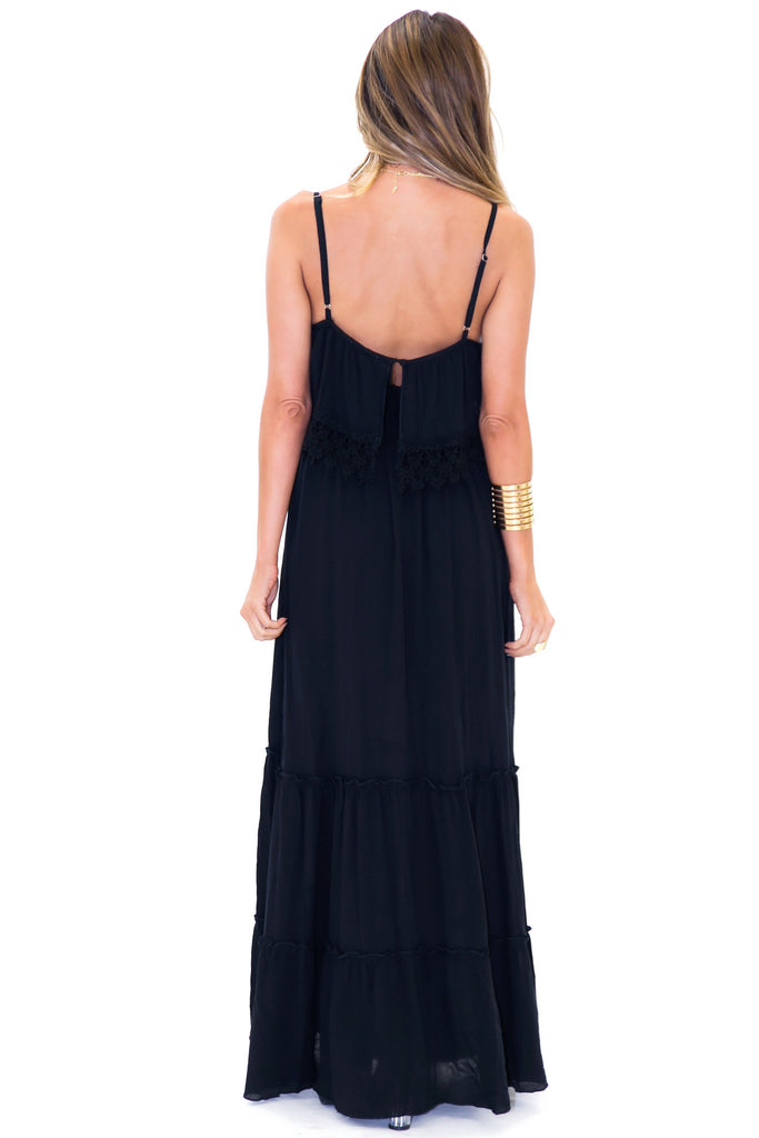 VOLITA LACE TRIM MAXI DRESS