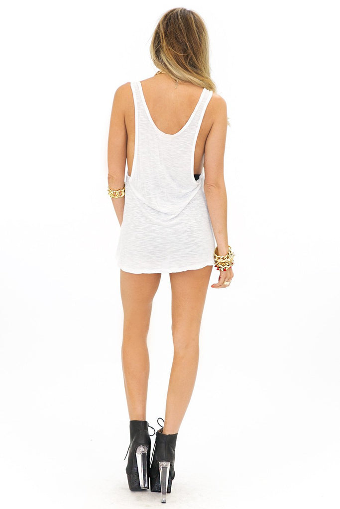 COMBED FABRIC ONE POCKET TANK - Haute & Rebellious