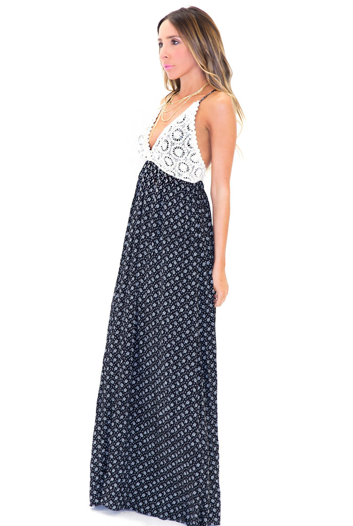 MADDI CONTRAST MAXI DRESS - Haute & Rebellious
