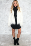 Landon Faux Fur Jacket - White - Haute & Rebellious