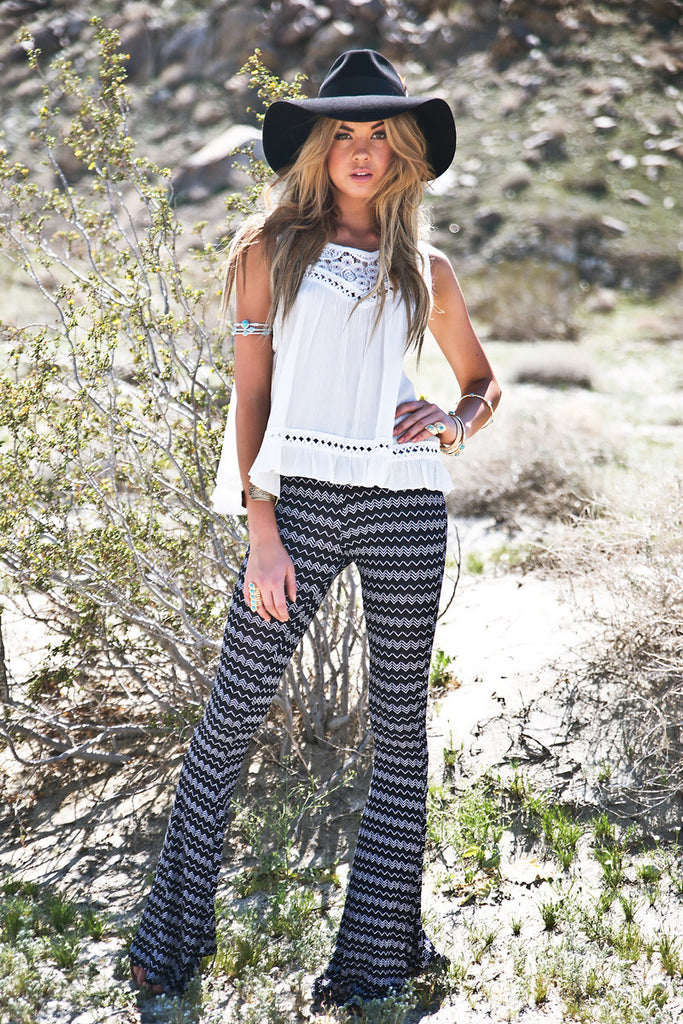 Trinidad Zig-Zag Bell Bottom Pants