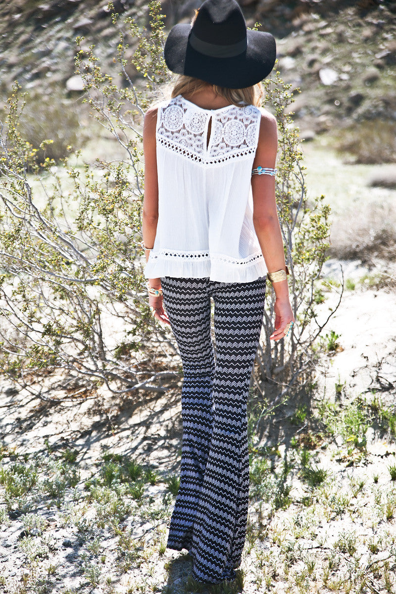 Trinidad Zig-Zag Bell Bottom Pants - Haute & Rebellious