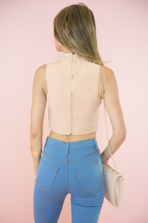 Sabine Cutout Crop Top - Haute & Rebellious