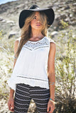Halhana Crochet & Lace Sleeveless Top - Haute & Rebellious