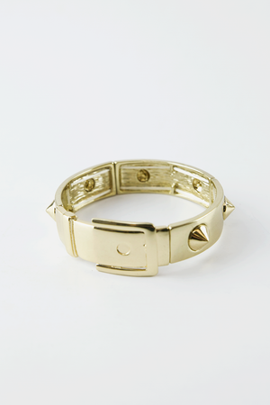 Buckle and Spike Bracelet