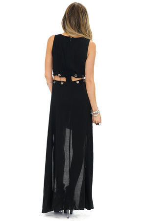 CRAIG CHAIN CUTOUT HIGH-LOW DRESS (Final Sale) - Haute & Rebellious