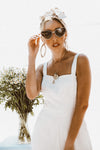Metal Frame Cat-Eye Sunglasses - Gold