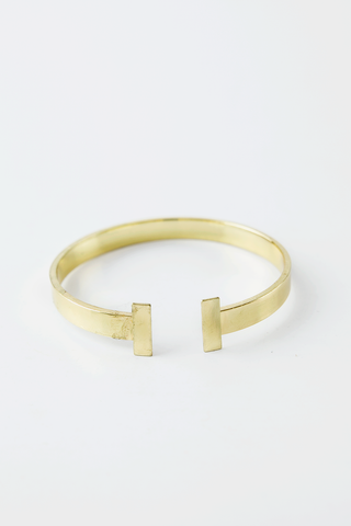 OPEN PETITE ARROW BRACELET - Mint/Gold