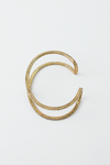 Crystal Lined Gold Cuff Bracelet