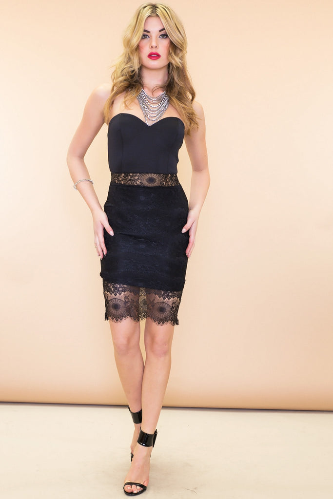 Emma Bodycon Lace Dress