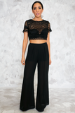 Razor Sharp Embroidery Crop Top - Haute & Rebellious