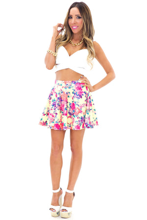 FIONA FLORAL A-LINE SKIRT - Haute & Rebellious
