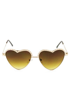 I HEART YOU SUNGLASSES - Brown/Gold - Haute & Rebellious