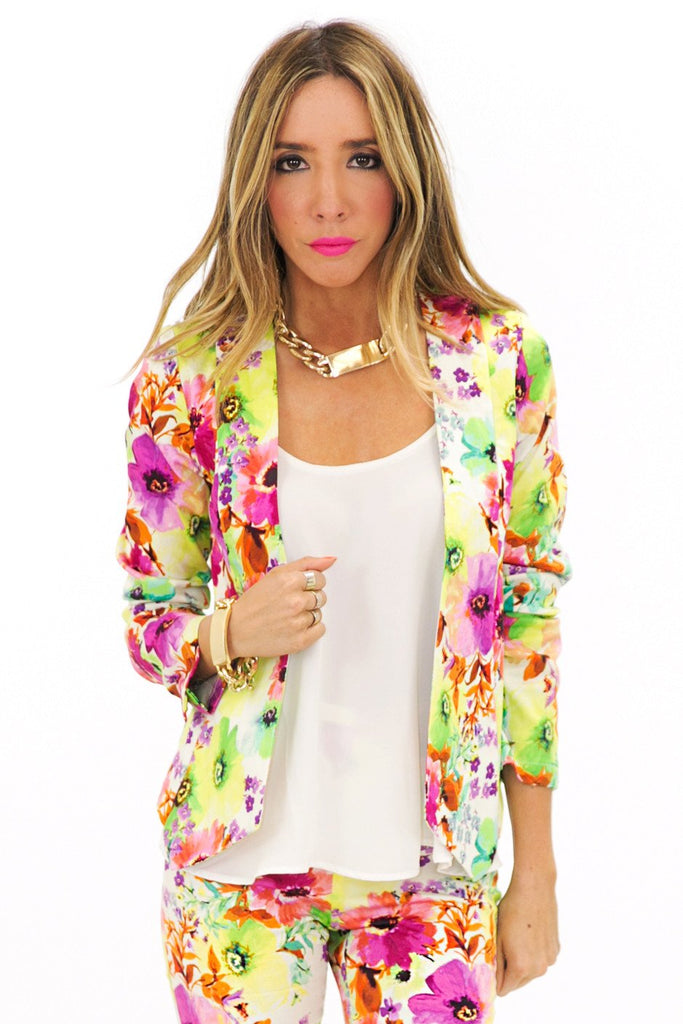 BLOSSOM FLOWER FITTED BLAZER (Final Sale)