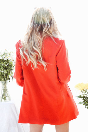 Long Blazer - Red