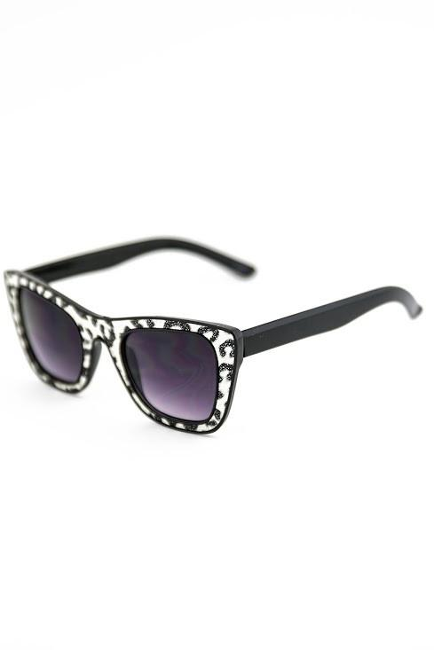 FIERCE & FRIENDLY SUNGLASSES - Zebra - Haute & Rebellious