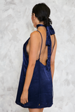 Private Party Satin Cami Dress - Midnight Blue
