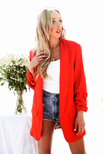 Long Blazer - Red /// Only 1-M Left ///