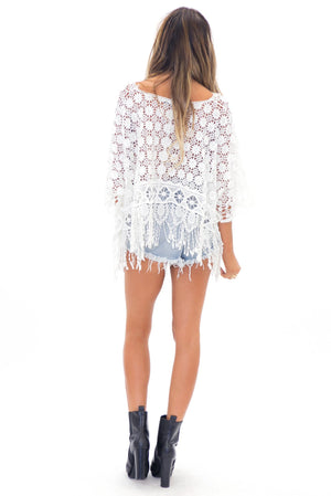 LENETTE LACE FRINGE TOP - Haute & Rebellious