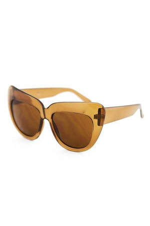 BETSON HEAVY SUNGLASSES - Brown - Haute & Rebellious