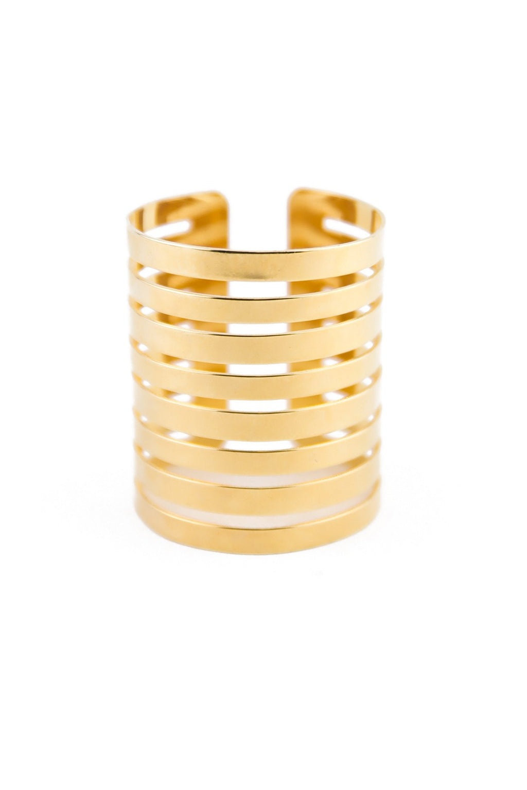 LADDER CUTOUT CUFF BANGLE - Haute & Rebellious