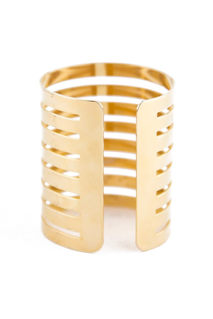 LADDER CUTOUT CUFF BANGLE