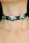 Three Times the Charm Leather Choker - Haute & Rebellious