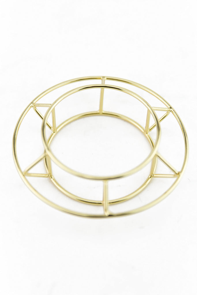 HOLLOW CIRCLE CUFF BANGLE