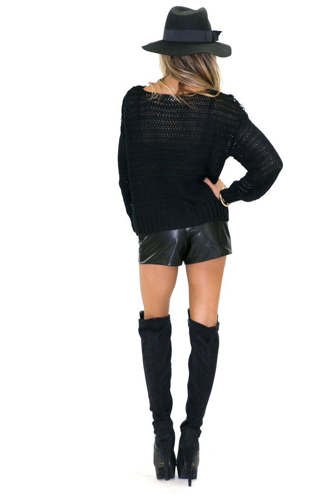 HESTER VEGAN LEATHER SHORTS
