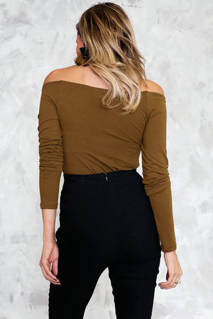 Basic Long Sleeve Tee - Olive
