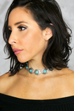 Rock and Stone Choker - Turquoise