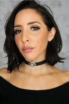 Salvage Reign Leather Choker - Haute & Rebellious